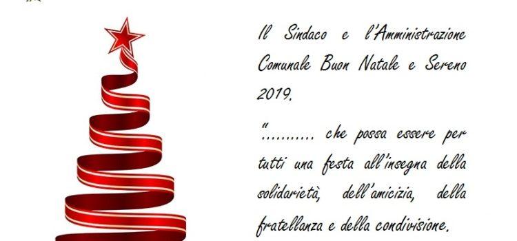 Buon Natale e Sereno 2019