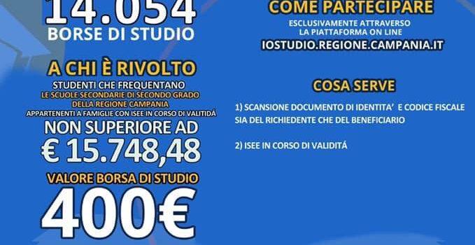 REGIONE CAMPANIA -BANDO BORSE DI STUDIO A.S. 2018/2019