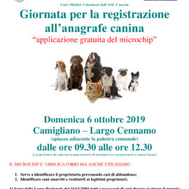 Giornata per la registrazione all'anagrfe canina
