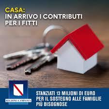 Bando Regionale per l'erogazione dei contributi destinati al sostegno all'affitto.