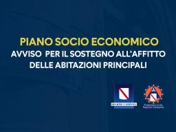 COVID-19, PIANO SOCIO ECONOMICO DELLA REGIONE: AVVISO PER IL SOSTEGNO ALL'AFFITTO DELLE ABITAZIONI PRINCIPALI