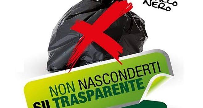 Disposizioni per la raccolta differenziata – divieto di utilizzo di sacchi neri per il conferimento dei rifiuti indifferenziati.